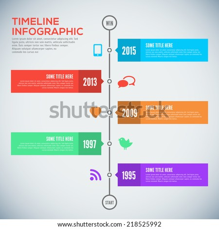 Modern timeline design template. Timeline Infographic. Vector design template. - stock vector
