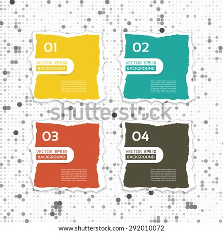 Modern torn paper for infographics. Vector infographics background. - stock vector