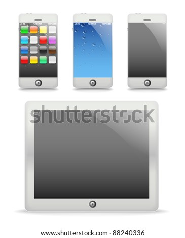 Modern touch gadgets vector illustration template - stock vector