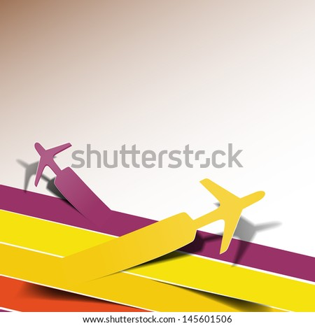 Modern Travel Design Banner Template - stock vector