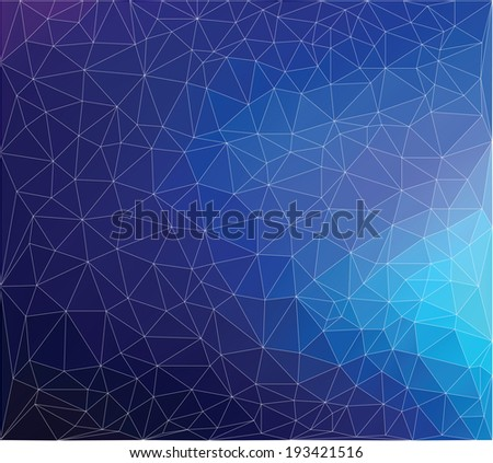Modern triangle mesh stained glass mosaic design - stock vector