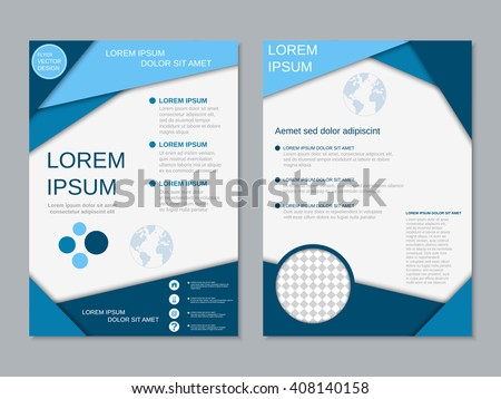 Modern Twosided Flyer Vector Design Brochure Stock Vector Hd