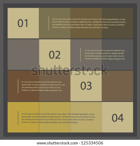 Modern ui style numbered banners, vector design template set 03 - stock vector