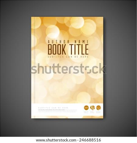 Modern Vector abstract brochure / book / flyer design template  - stock vector