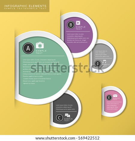 modern vector abstract circle tag infographic elements