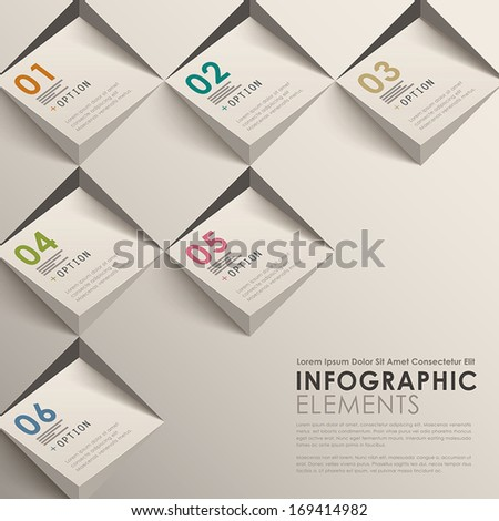 modern vector abstract 3d infographic elements - stock vector