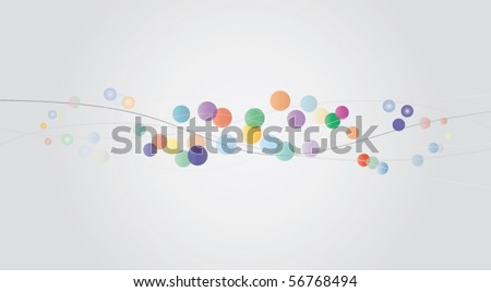 Modern vector abstract illustration with lines and color circles