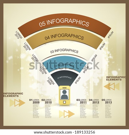 modern vector abstract mobile network infographic elements - stock vector