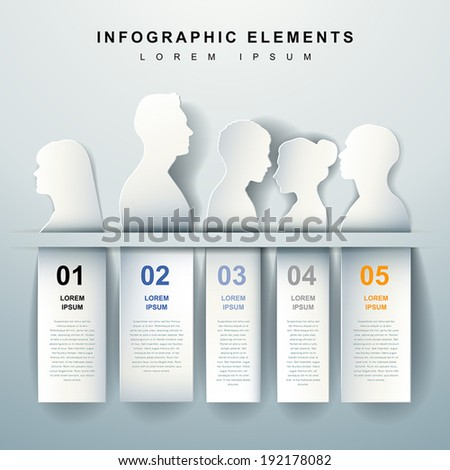 modern vector abstract outline infographic elements