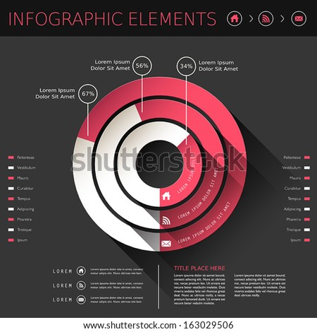 modern vector abstract pie chart infographic elements - stock vector