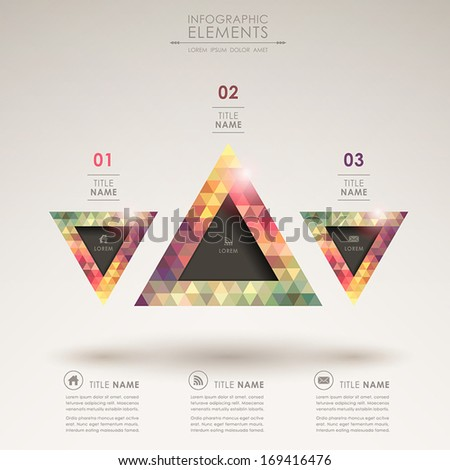 modern vector abstract pyramid infographic elements - stock vector