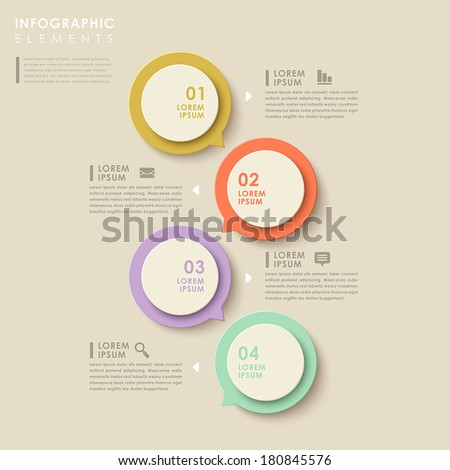 modern vector abstract speech bubble infographic elements - stock vector