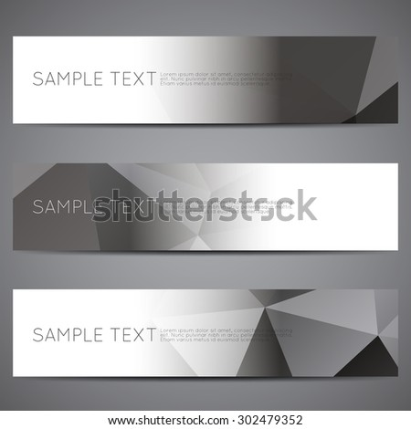 Modern vector banners polygonal background set