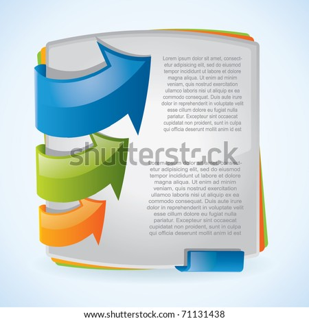 Modern vector brochure design with arrows - stock vector