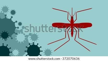 Modern vector brochure, report or flyer design template. Medical industry, biotechnology and biochemistry concept. Scientific medical designs.  Virus mosquito transmission diseases relative theme - stock vector