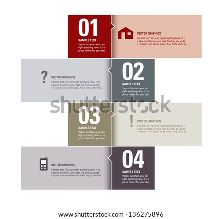 Modern Vector Design Template. Numbered Banners. Graphic or Website Layout.
