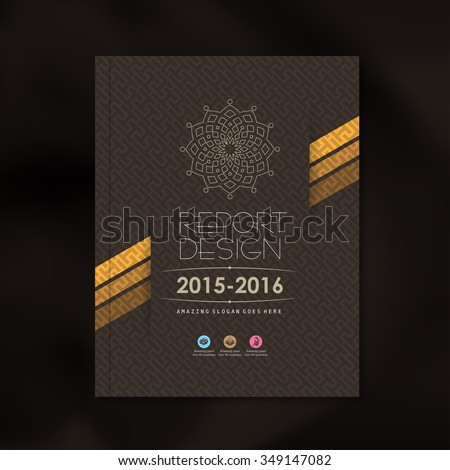 Modern Vector design template with luxury pattern background design for corporate business annual report book cover brochure flyer poster,vector illustration - stock vector