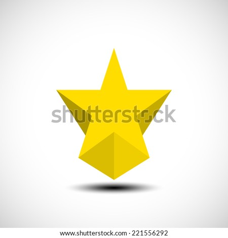 Modern vector icons - star. Illustration.