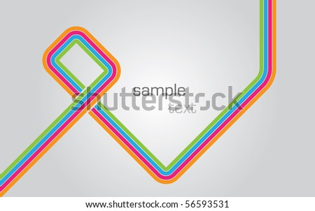 Modern vector illustration background with colorful lines