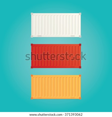 Modern vector illustration of cargo container shipping - stock vector
