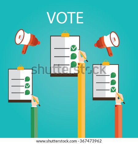 Modern vector illustration of vote - stock vector