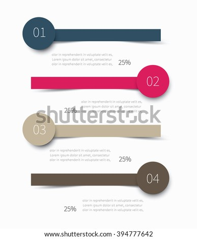 modern vector lines for summary, report presentation / 4 options infographic design - stock vector