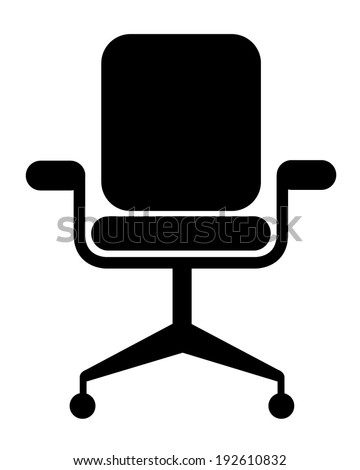 Modern vector office chair graphic - stock vector