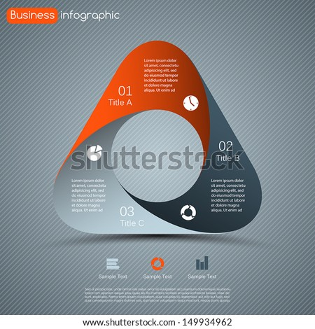 Modern vector options layout. Can be used for infographic. - stock vector