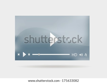 Modern video player interface for web. - stock vector