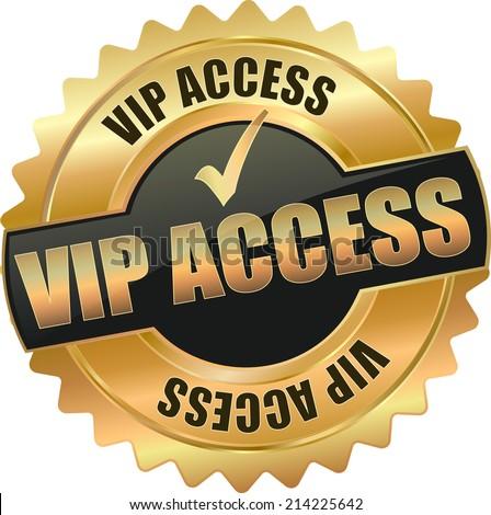 modern vip access vector eps10 badge sign - stock vector