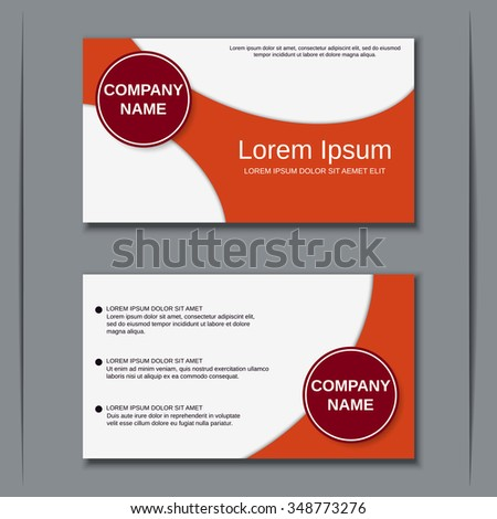 Modern Business Visiting Card Banner Badge Vector 336689423 – Coupon Flyer Template