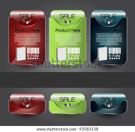 modern web banners for web sale and advertisement - stock vector