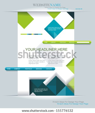 Modern web design. Can be used for Book cover, Graphics, Lay out, Content page.  - stock vector