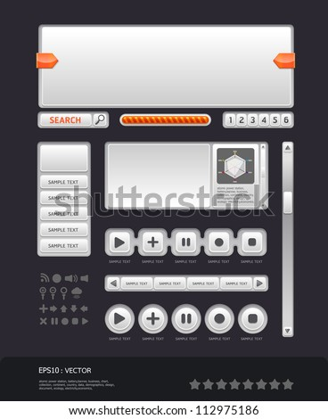 modern web design template vector