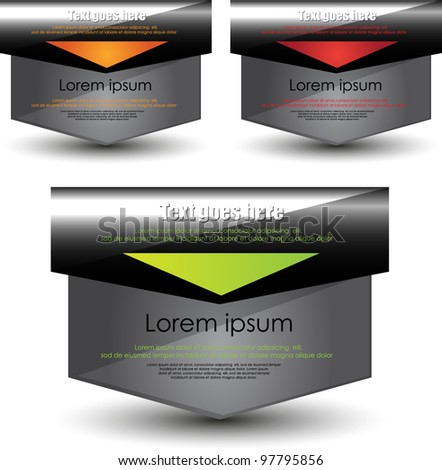 modern web element design - stock vector