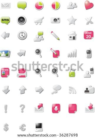 Modern web 2.0  icons - stock vector