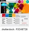 Modern web page layout design - stock vector