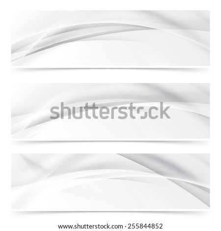 Modern web transparent line layout abstract header set. Vector illustration - stock vector