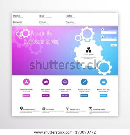 Modern Website Template  - stock vector