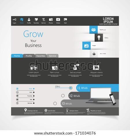 Modern Website template design  - stock vector