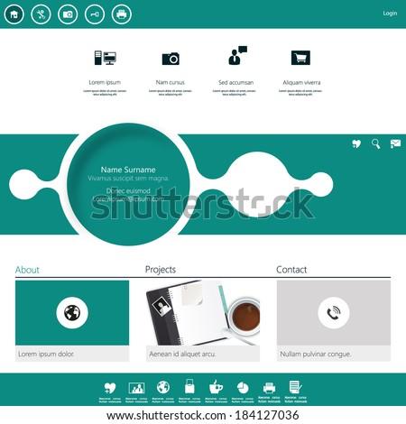 Modern Website Template minimalistic design  - stock vector