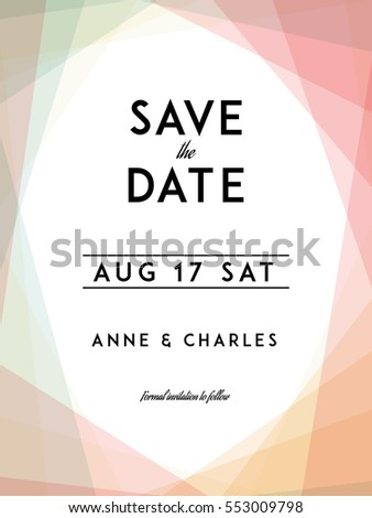 modern wedding save date template modernのベクター画像素材 553009798