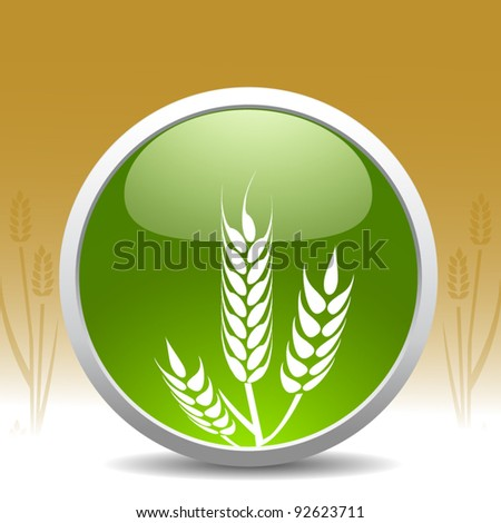 modern wheat sign