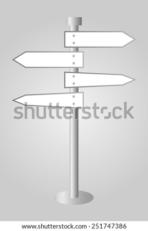 Modern White Road Sign Vector with Place For Your Text