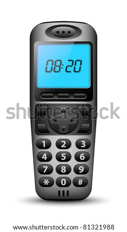 Modern wireless phone in original design. Vector illustration - stock vector