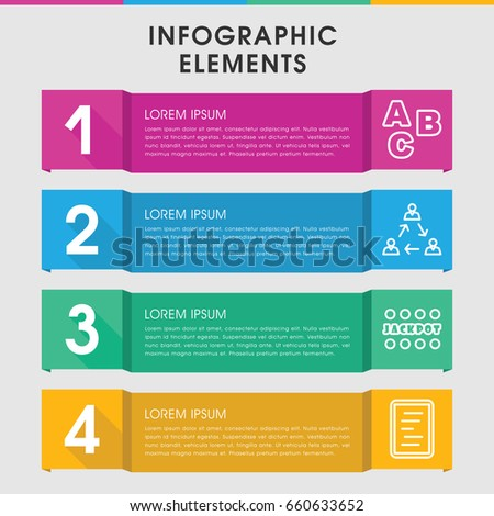 Modern Word Infographic Template Infographic Design Stock Vector ...