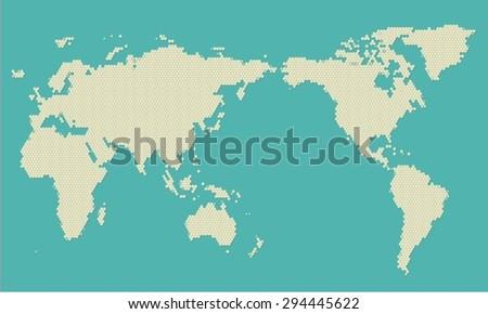 Modern world map pixel vector vectores en stock 294445622 shutterstock modern world map pixel vector gumiabroncs Image collections