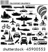 Modes of transportation graphic collection individually layered - stock vector