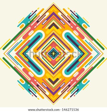 Modish arabesque in color. Vector illustration. - stock vector