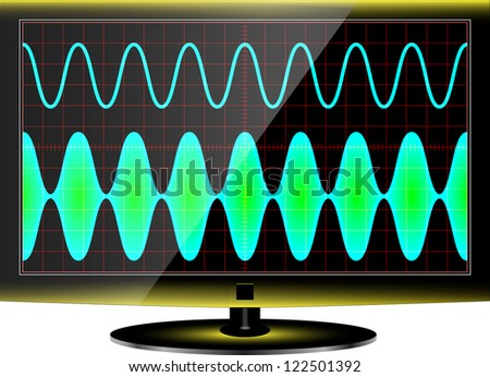 modulation - stock vector